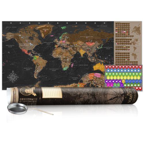 Carte à gratter - Carte brune - poster (version anglaise) - Décoration, image, art |