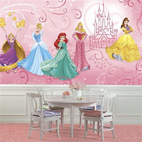Papier peint Panoramique Surestrip (pose sans colle) Enchanté Princesses Disney 320X182 CM