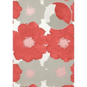 Papier Peint Floral Atlas Tem 8015 5 Papier Peint Intisse Gaufre Au