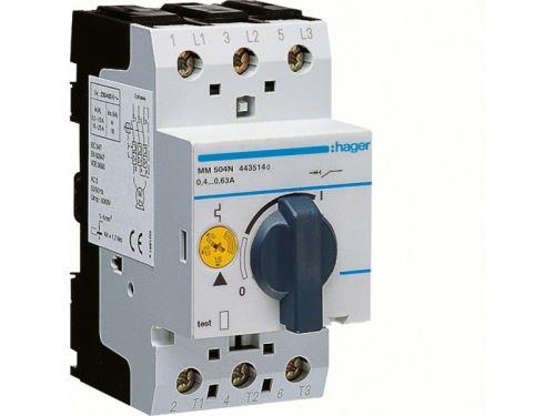 Disjoncteur moteur 0.4-0.63 A P 0.09-0.12 kW AC3 230-400 V 2.5 M IEC 947 (MM504N)
