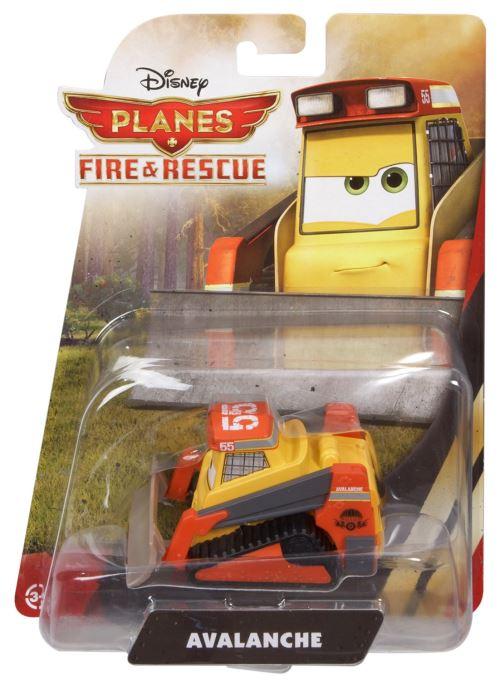 Disney planes : bulldozer jaune et rouge avalanche n°cbn10 - véhicules cars - voiture