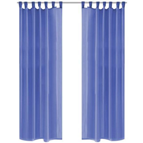 vidaXL Rideau occultant 2pcs Voile 140*245 cm Bleu royal