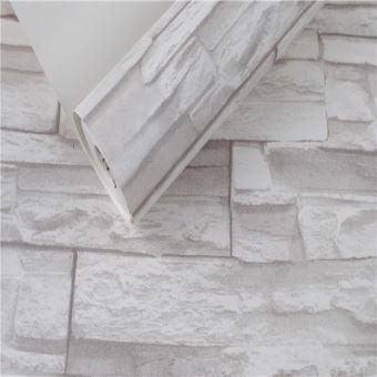 Papier Peint 3d Empiles Brique Pierre Murale Blanc 5 3m2
