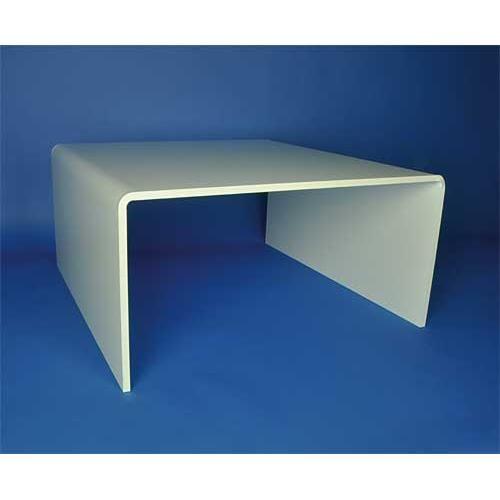 Table de salon blanc brillant
