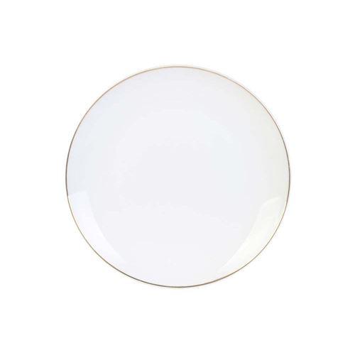 The Home Deco Factory - Assiette en porcelaine avec liseré doré Assiette plate
