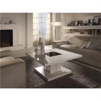 Table Basse Carree Blanc Laque.Table Basse Carree Blanc Laque Design Domi