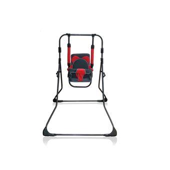 Balancelle berceau transat chaise haute 12m+ bébé enfant - Samba Plus 4en1    Bleu marine et Rouge / Cadre noir