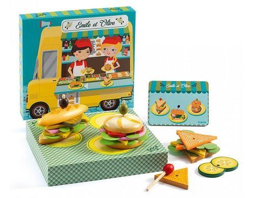 Atelier sandwich emile et olive - jeu d'imitation cuisine - djeco
