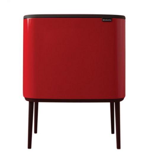 poubelle 2 seaux 11+23l rouge - 316104