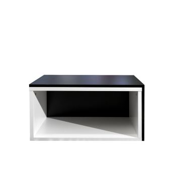 Table Basse Rectangulaire Gigogne En Bois L70xp40xh35cm Blancnoir