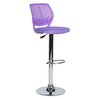 Tabouret Violet Réglable Chaise Pivotant Bar vOw0mN8n