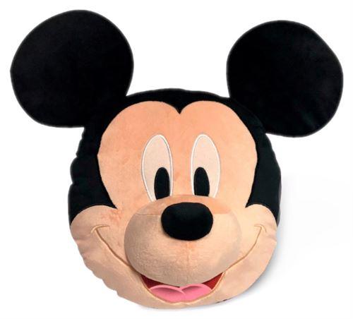Disney Coussin 3D Mickey Mouse 52 cm velours noir/beige