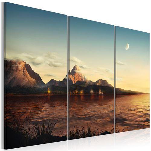Tableau - Soirée chaude dans les montagnes - Artgeist - 120x80