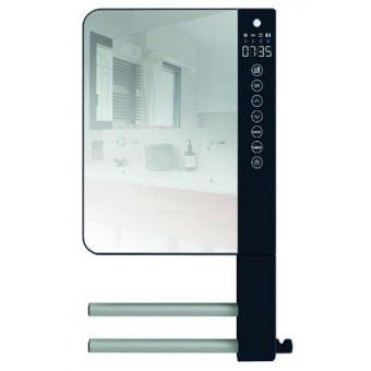 Radiateur Sèche Serviette Soufflant Telia Atlantic Avec Miroir Et 2 Barres 720111 Atlantic