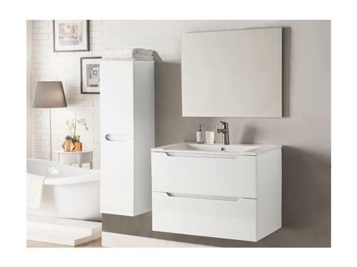 Ensemble STEFANIE - meubles de salle de bain - Laqué blanc