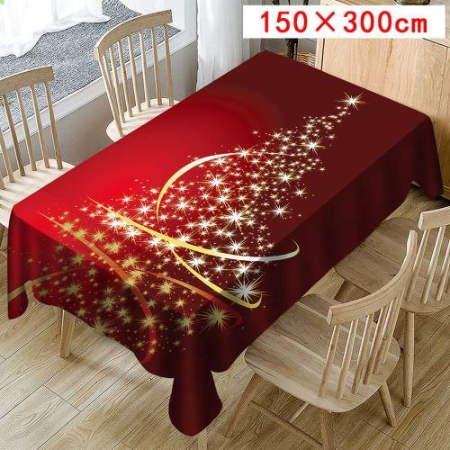 Nappe de Noël Imprimer Rectangle Table Cover Holiday Party Home Decor_Kiliaadk444