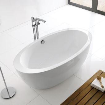 baignoire ilot ovale acrylique blanc 170x90 cm paris. Black Bedroom Furniture Sets. Home Design Ideas