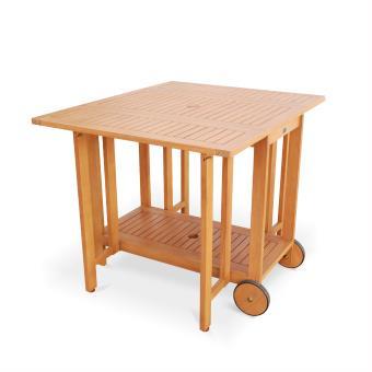 28% sur Salon de jardin en bois pliable Merida, 100x82cm - Alice\'s ...