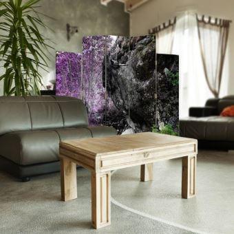 Feeby Cloison de séparation design Paravent pivotant 5 pans  assymétriques,Branche Bois 180x180 cm