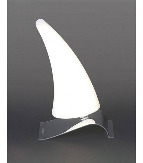 Lampe de Table Mistral Left 6W LED 3000K, 540lm, chrome poli/acrylique givré