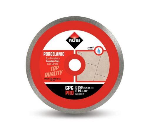Rubi - Disque diamant pour grès porcelaine jante continue 350 mm x 25,4 mm CPC-350 PRO