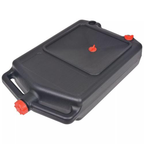 Plastique Récipient Portable à Huile Usée 10 L 58 x 33 x 14 cm Noir