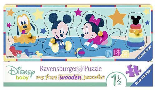 Disney Mon Premier Puzzle Progressif en Bois