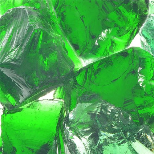 vidaXL Roches de jardin Verre Vert 60-120 mm 25 kg