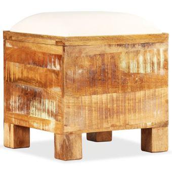 Banc de rangement Bois massif recyclé 40 x 40 x 45 cm | Brun - Armoires et  meubles de rangement - Coffres de rangement | Brun | Brun