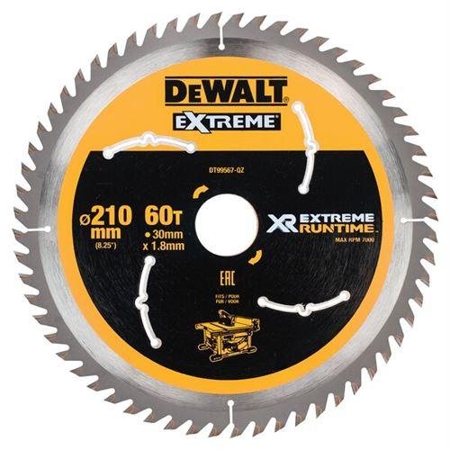 DeWalt XR Extreme Runtime Lame de scie circulaire statique, 1 pièce, 210/30 mm 60 WZ/FZ, dt99567 de QZ