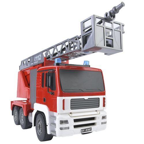 RC camion de pompiers, jouet de camion de simulation voiture télécommandée ingénierie cadeau de Noël anniversaire fête