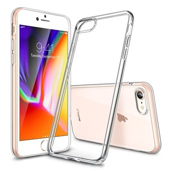INECK Coque iPhone 8 Plus Silicone Coque iPhone 7 Plus Souple Houe iPhone 8 iPhone 7 TPU Bumper Case Silicone Gel Shock Absorption Anti Rayures Houe Etui pour Apple iPhone 7 iPhone 8 Transparent