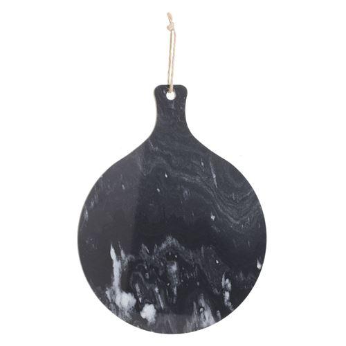 Planche à découper en marbre Marble - Diam. 35 cm - Noir