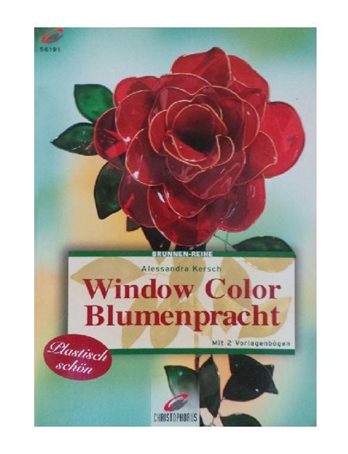 Livre motif window color les feurs - modele peinture fenetre (langue allemand)