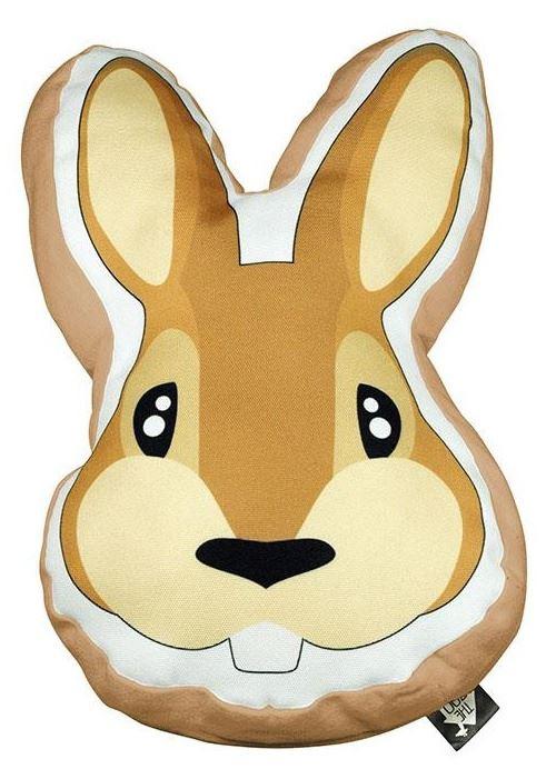 The Zoo coussin décoratif Rabbitjunior 40 x 40 cm textile orange/brun