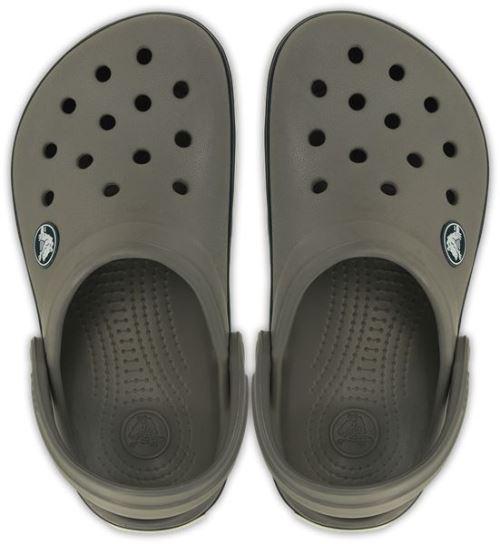 Crocs crocband kids sabots <strong>chaussures</strong> sandales en smoke gris navy bleu 10998 05h