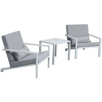 Delorm - Salon de jardin détente en aluminium Fun - Mobilier ...