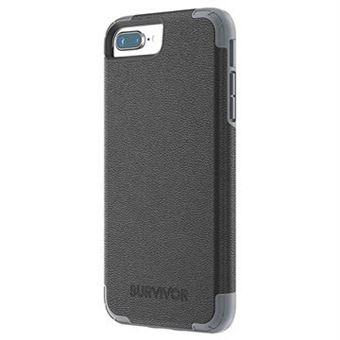 Griffin Survivor Prime Coque Pour Iphone 8 Plus Cuir Noir