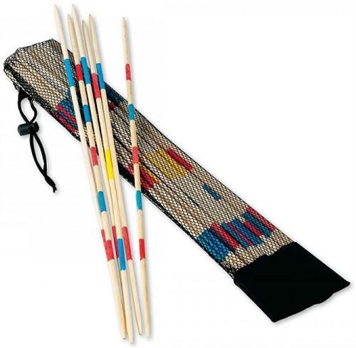 Jeu de mikado géant en bois 50 cm avec sac filet