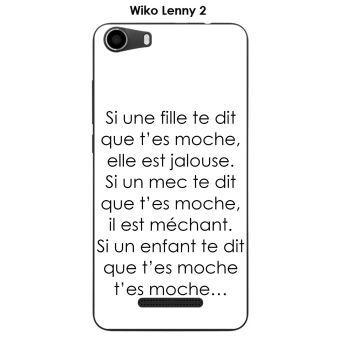 Onozo - Coque Wiko Lenny 2 design Citation