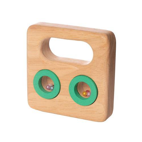 Manhattan Toy hochet junior 9,1 cm bois clair/vert