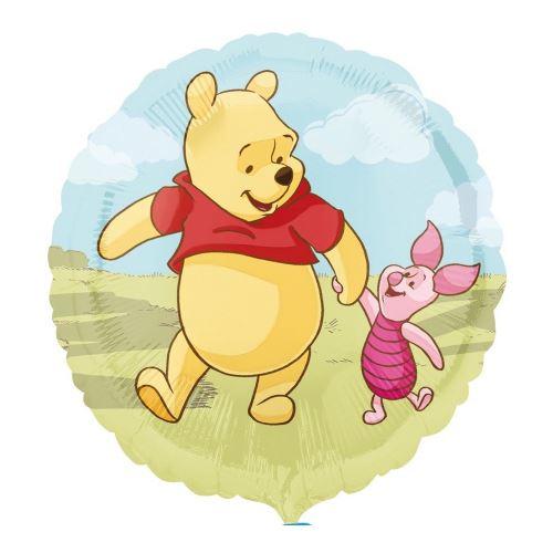 Ballon Winnie l'ourson et Porcinet Disney hélium