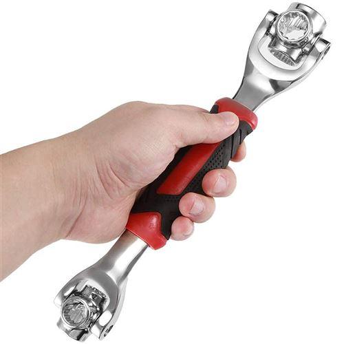 FISHTEC® Clé à Douilles 48 en 1 - Ø 8 à 19 mm - Torx, 6, 12 Points, Boulon - Tête Rotative 360° - Poignée Antidérapante