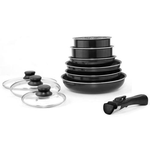 Fagor Fg3104 Batterie De Cuisine 10 Pieces Tous Feux Dont Induction - Noir