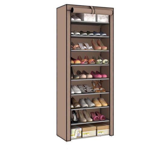 Porte-chaussures style japonais 6 couleurs 10 niveaux 9 marron