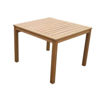 Table à manger de jardin CAPELLI en bois d\'eucalyptus 85x85 ...