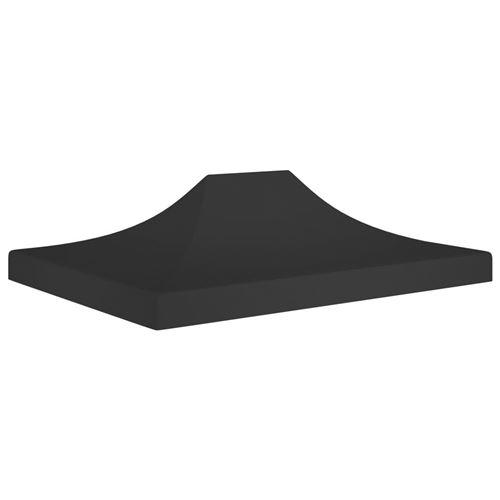 Toit de Tente de Réception 4,5X3 M 270 G/M² - Noir
