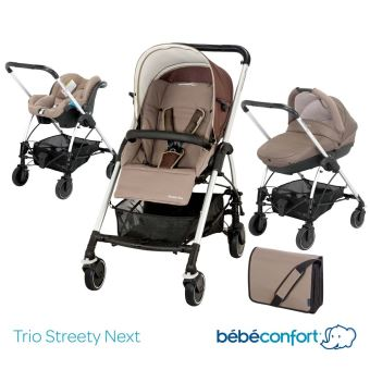 Poussette combiné trio Bébé Confort streety next 2014 walnut brown