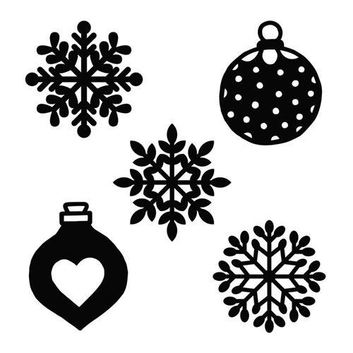Matrice de découpe Cosy Christmas - Flocons 9 x 13 cm - Artemio