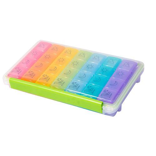 Cachette 28 Distributeur Tablet Médecine Jour Organisateur Hebdomadaire Cas de Stockage Extra Large Snpl350